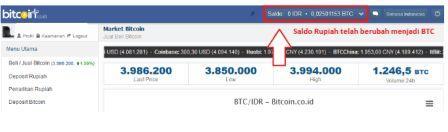 langkah yang harus anda lakukan untuk mengisi (deposit)/membeli Bitcoin dengan Rupiah