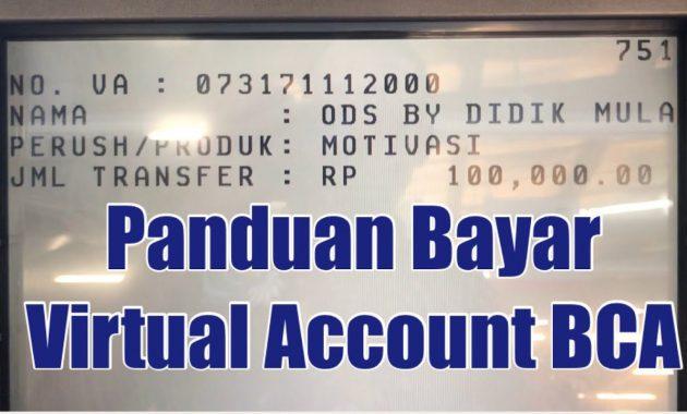 Cara Transfer Virtual Account BCA Melalui ATM